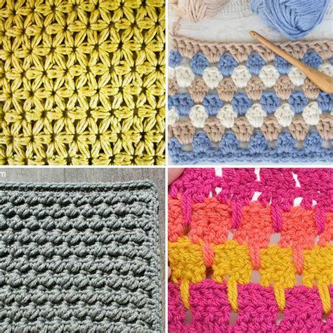 crochet stitches 25 crochet stitches for blankets and afghans make do crew