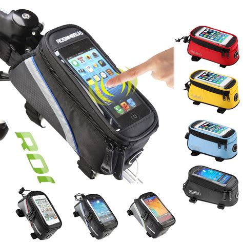 Holder Mobil Angsa 1 roswheel bicycle bags cycling bike frame iphone bags holder pannier mobile phone bag pouch