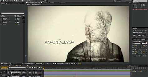 tutorial after effects true detective create a double exposure animation in after effects