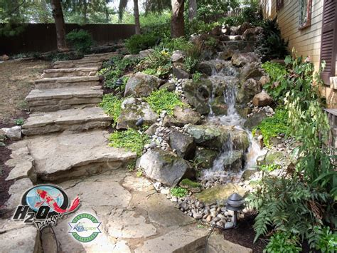disappearing pondless waterfall landscape ideas