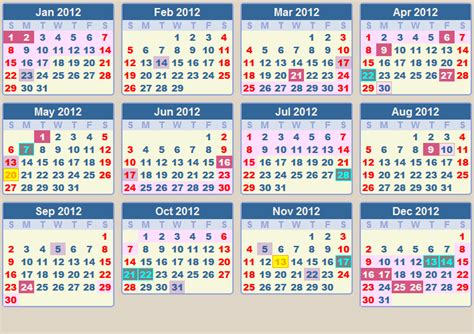 2012 Calendar With Holidays Calendar 2012 School Terms And Holidays South Africa