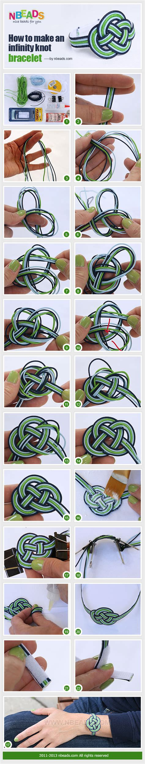 how to do an infinity knot how to make an infinity knot bracelet pictures photos