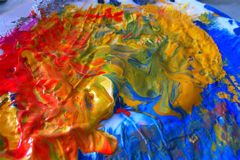 Acrylic Warna free images leaf flower color autumn colorful painting organ modern artistically