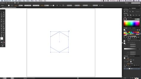 draw hexagon illustrator how to draw an icon badge and long shadow in adobe illustrator