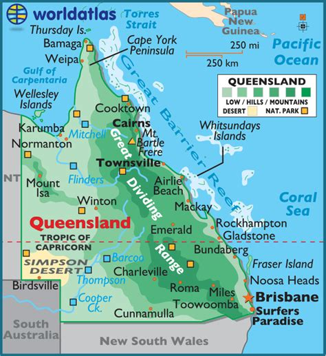 printable maps queensland queensland large color map