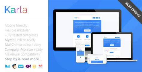responsive email template outlook karta minimalist responsive email template by saputrad