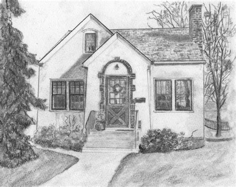 Home Drawing by Grandma S House By Sue Olson