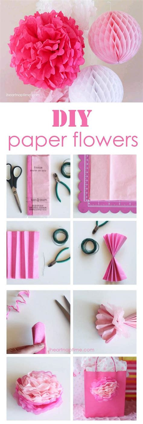 diy make tissue paper flowers fabdiy