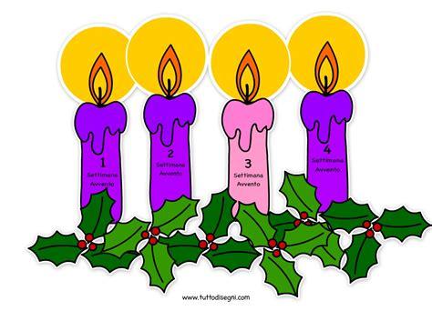 colore delle candele dell avvento candele avvento immagine a colori tuttodisegni