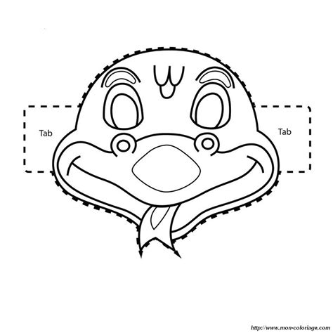 new year mask template free coloring pages of snake masks