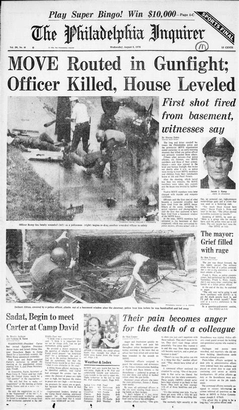 philadelphia inquirer food section the move crisis inquirer 1978 coverage philly