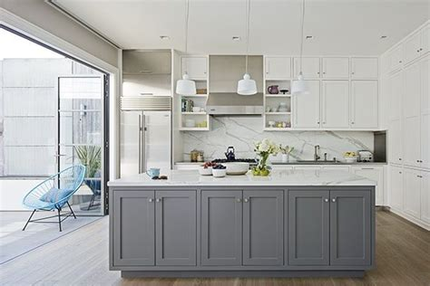 White Grey Kitchen by Cabinets Furniture Gray