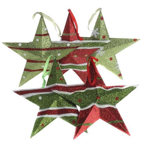glittered christmas metal star ornament christmas
