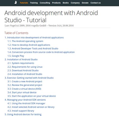 android development tutorial android api tutorial pdf