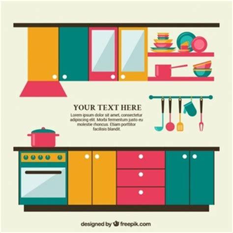 imagenes vectoriales cocina gratis muebles de cocina fotos y vectores gratis