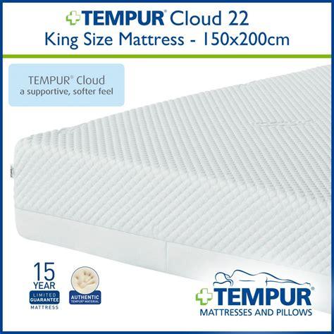 Tempur Mattress Dimensions tempur cloud 22cm king size mattress at the best prices
