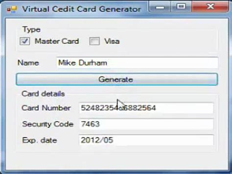 Sle Credit Card Number Generator Credit Card Generator With Cvv Code
