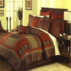queen king cal king brown red orange green bedding