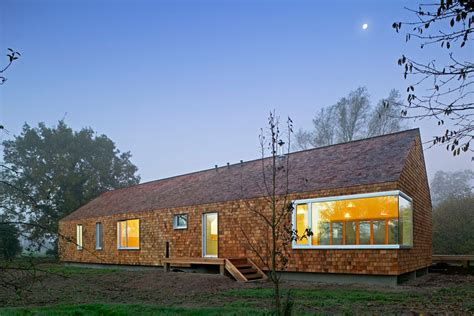 mobile home design uk prefab country cedar house by hudson architects digsdigs