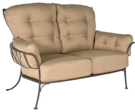 O W Lee Monterra Wrought Iron Loveseat Traditional