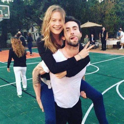 Pregnant Behati Prinsloo Is All Smiles While Debuting Her