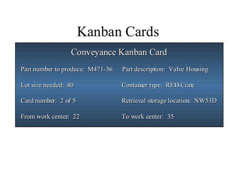Kanban Replenishment Card Template by Kanban 1