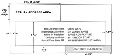 usps envelope printable area address placement mail services creighton university