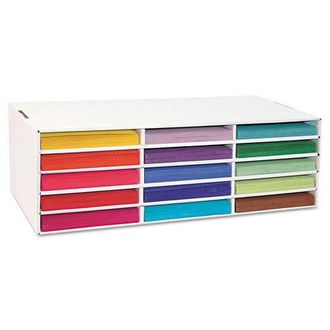 paper sorter shelves pac001310 construction paper sorter by pacon ontimesupplies ontimesupplies