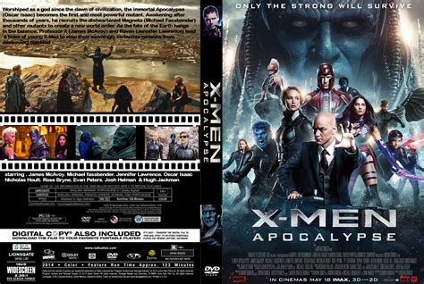 imagenes de x men en 3d x men apocalypse dvd cover label 2016 r0 custom