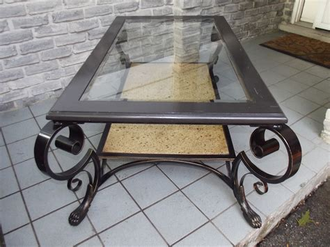 Wood And Wrought Iron Coffee Table Wrought Iron Wood Coffee Table Secondhand Pursuit