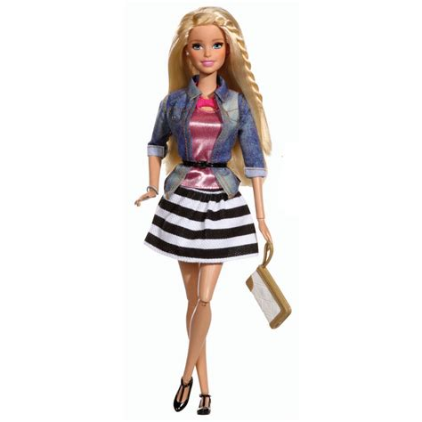 doll house fashion barbie style denim and stripes fashion doll