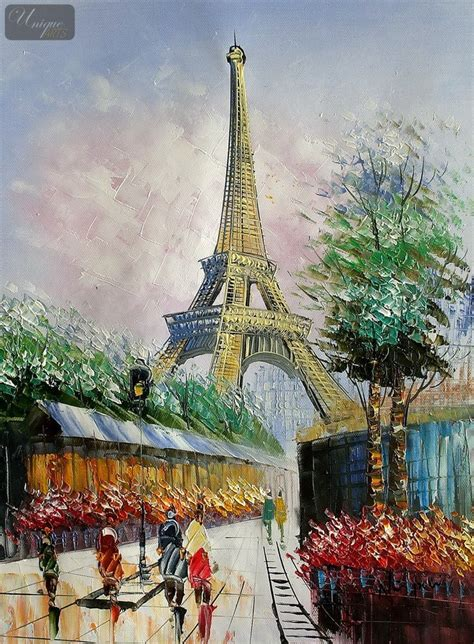 modern with eiffel tower 12x16 quot painting reproduction paintings by