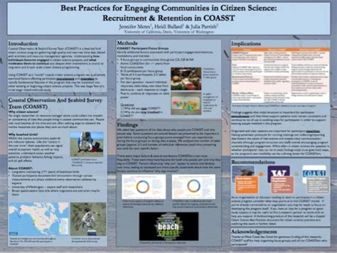 best science poster poster on best practices for engaging communities in