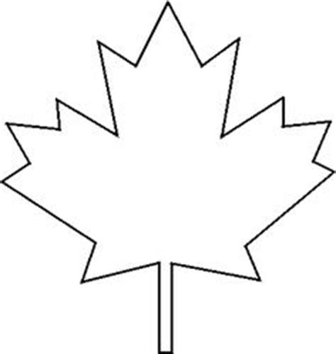 Canada Maple Leaf Outline by Canadian Maple Leaf Pattern Use The Printable Outline For Crafts Creating Stencils