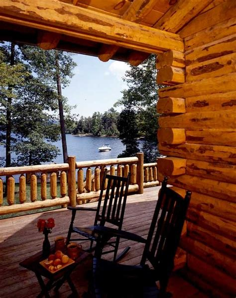 Morning Cabins by Morning Coffee Overlooking Lake George Is A Peaceful Start