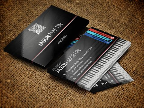 singers template business card free musician business cards zokidesign