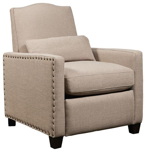 push back recliner chair brooke push back recliner natural transitional