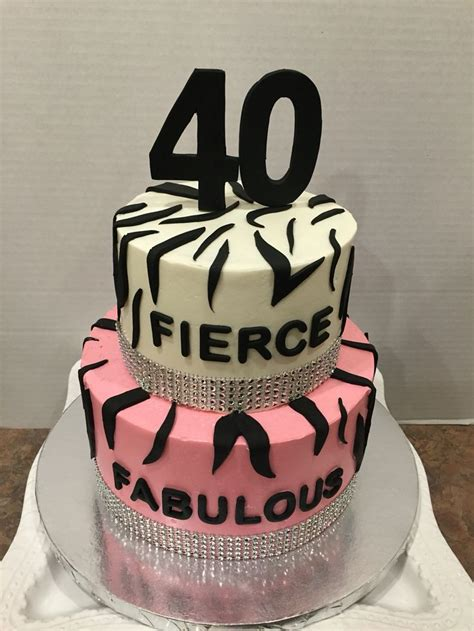 Fierce Fabulous And Forty Decorations by 1000 Ideas About 40th Birthday Cakes On 40