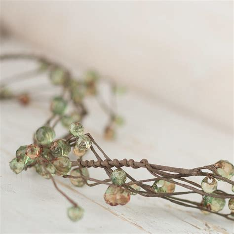 beaded garland beaded twig garland on sale craft supplies