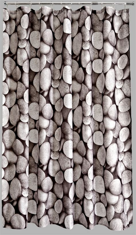 pebble shower curtain aqualona pebbles polyester shower curtain