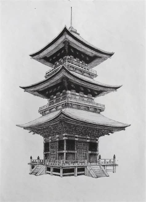 japanese building tattoo designs japanese temple by suraj28 on deviantart