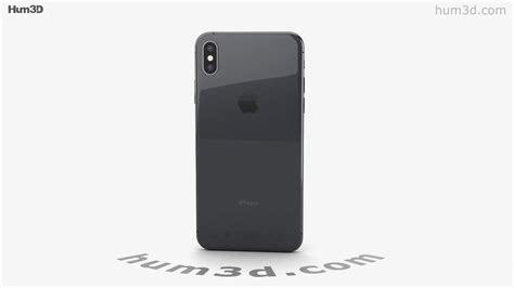 apple iphone xs max space gray 3d model by hum3d