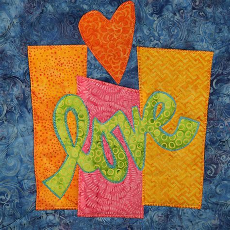 I Quilt by Whimsical Letters In Fabric Iquilt