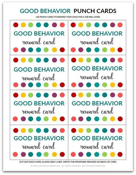 student punch card template behavior the world s catalog of ideas