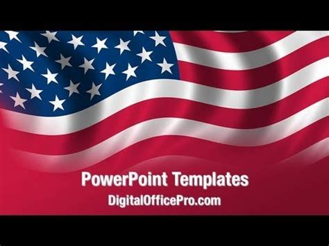 Us Flag Waving Powerpoint Template Backgrounds Digitalofficepro 02329w Youtube American Flag Powerpoint Template