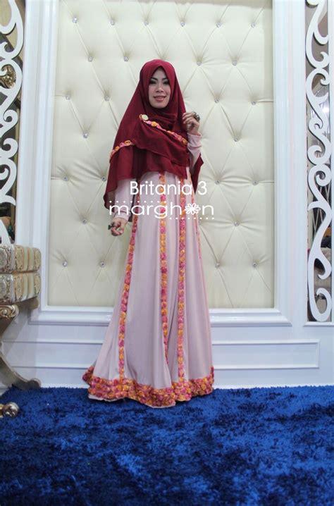 Baju Muslim Wanita Bordir Maroon Zrx169 britania maroon baju muslim gamis modern
