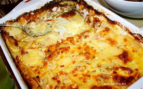 bacon cheese potato bake recipe baked potato with bacon and thyme recipe arie s kitchen