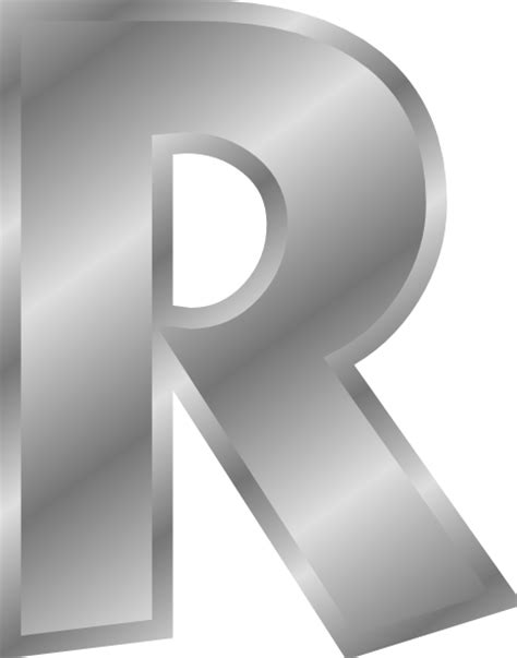 Effect Letters Alphabet Silver R Clip At Clker