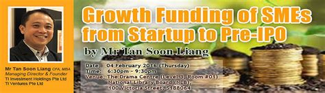 How To Fund Mba In Singapore by Growth Funding Of Smes From Startup To Pre Ipo By Mr