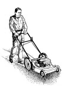 LAWN MOWER CUTTING GRASS CLIP ART &171 Lawn Mowers sketch template